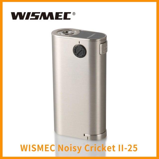 Лидер продаж оригинальный wismec шумный крикет II-25 mod 18650 батареи 510 нить VAPE электронная сигарета