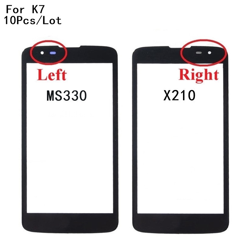 10Pcs/Lot New Front Screen Outer <font><b>Glass</b></font> Touch Outer Cover Panel LENS For <font><b>LG</b></font> <font><b>K7</b></font> X210 <font><b>X210DS</b></font> MS330 Tribute 5 LS675 Touch screen image