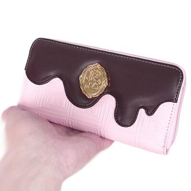 Las mujeres japonesas harajuku lolita AP junta de chocolate fundido estándar larga monedero niñas personalizado monedero de la vendimia
