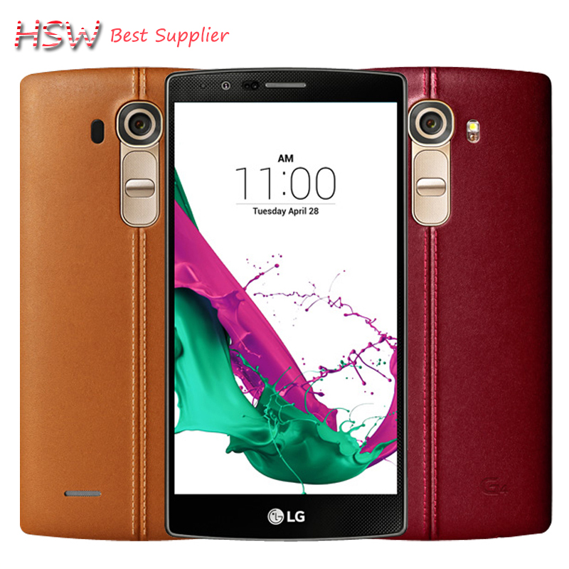 hot sale Original Unlocked LG G4 H815 EU Hexa Core Android 5.1 3GB RAM 32GB ROM 5.5 inch Cell Phone 16.0 MP Camera 4G LTE