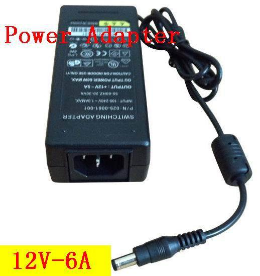 Free shipping 12V 6A  Switch power supply,72W  LED power adapter ,DC port (5.5*2.1 or 5.5*2.5) ,100pcslots