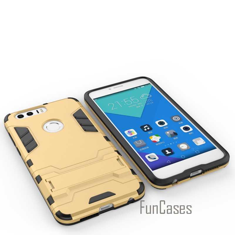 Per Il Caso di Huawei Honor 8 Armatura Trend di Stile Sottile Cavalletto Mobile Del Telefono Della Copertura di Custodie per Huawei Honor 8 Anti Bussare sacchetti Del Telefono \