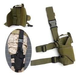 Army Tactical Gota Perna direita Ajustável Pistola Coxa Holster Titular Bolsa para Glock 17 19 31 32 mais pistola