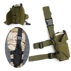 Gota direita perna ajustável tático do exército pistola arma coxa coldre bolsa titular para glock 17 19 31 32 mais pistola