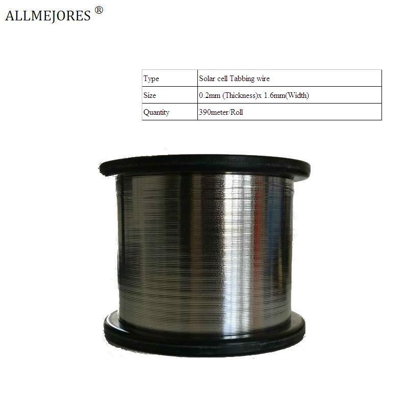 ALLMEJORES Solar cells connector Tabbing wire soldering wire for DIY solar panel PV ribbion wire Tinned