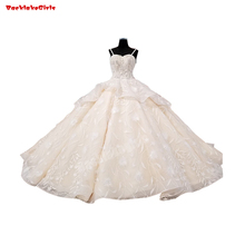 23556 Sexy Strapless Wedding Dress Appliqued Flower Gown