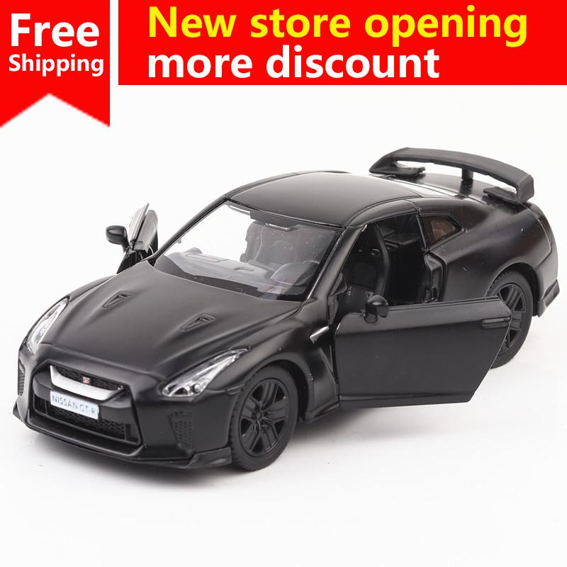 Customized Scale Model Cars Diecast Super Sports Car Educational Nissan Motor GTR children Toys