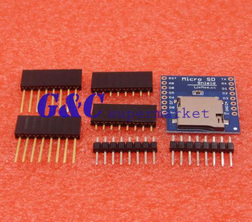 Micro SD Shield for WeMos D1 mini TF WiFi ESP8266 Arduino Compatible SD Storage