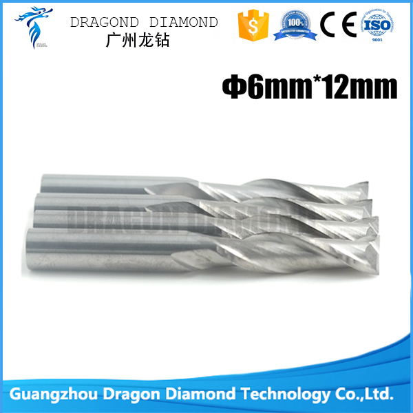 5pcs 6*12mm Two Flutes Carbide Spiral bits, End Milling Tools, CNC Cutting Bits, Engraving Cutter on Woodworking  цены