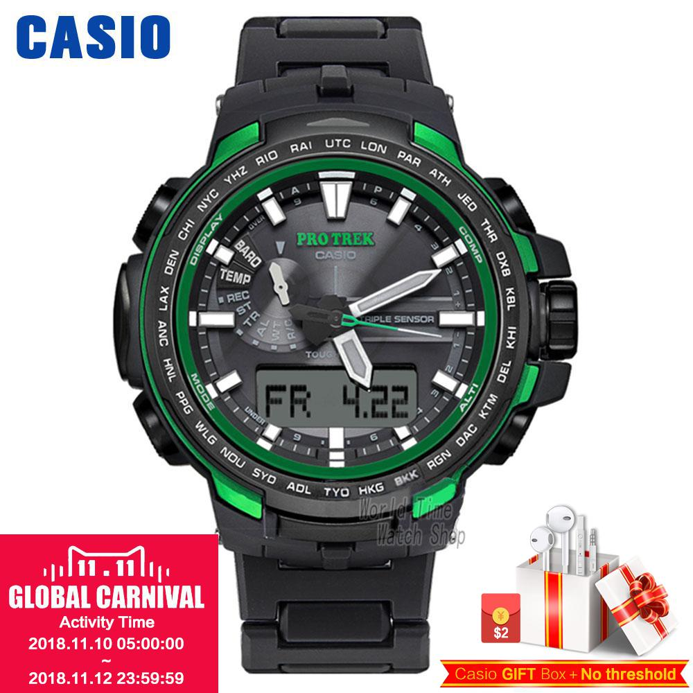 Casio watches solar outdoor climbing table PRW-6100FC-1P PRW-6100Y-1A PRW-6100Y-1B PRW-6100YT-1B PRW-6100Y-1P men's watches casio prw 7000 1b