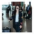 Роскошные Вышивки Свитер Азиатская Девушка 2016 Мода Повседневная Одежда Теплая Осень Корейский Стиль Свободный Вязаный Кардиган Повседневная Свитер