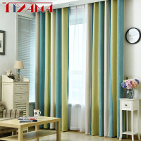 Thicken Chenille Thermal Insulated Living Room Blackout Curtains Modern Striped Custom Finished Drapes For Bedroom AG124&2