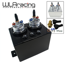 Wlring магазине-3L двойной Алюминий заготовки перенапряжения топливного бака/расширительного бака с 2 шт. 044 топливный насос серебро или черный WLR-TK84044