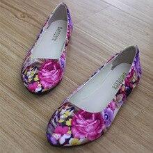 Freies Verschiffen! mode 2017 Neue Sommer Frauen Schuhe Casual Flache Schuhe Pu Leder Einzelnen Schuhe Blumen Plus Größe 35-42