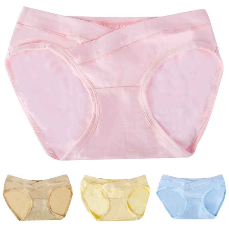 Maternity Pregnant Low-waist Panties Maternity Solid Color Briefs Pregnancy Women Linger ...