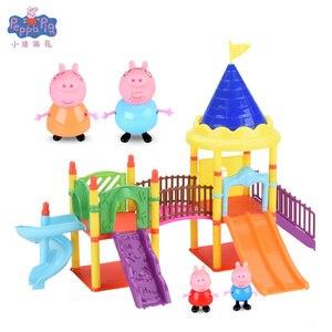 Image 5 - פפה חזיר אנימה איור בובת בית צעצוע פיקניק ספורט רכב פגי משפחה פעולה דמויות מתנת יום הולדת צעצועים לילדים