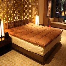 100% weiße gans unten füllung 10 cm dicke Komfortable und warme matratze Genuss von fünf sterne hotels
