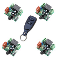 RF Wireless Remote Switch System Remote Power Control Switch For Lamp Lighting Motor AC 220V 1CH