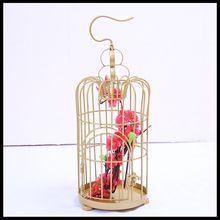 цена на 1PCS Simple wrought iron decorative bird cage decoration golden wedding bird cage photography props