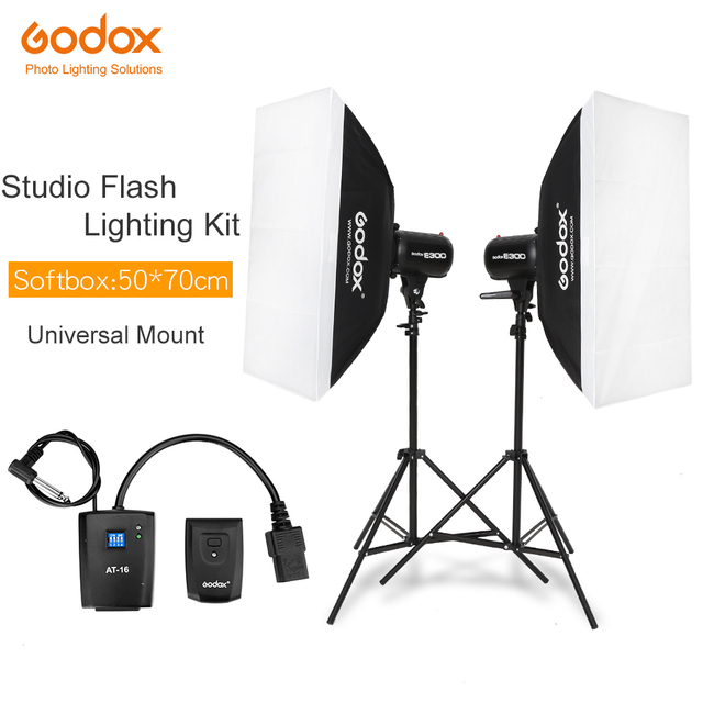 600Ws Godox Strobe Studio Flash Light Kit 600W   Photographic Lighting   Strobes, Light Stands, Triggers, Soft Box