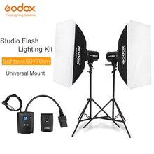 600Ws Godox estroboscópico Studio Kit de luz Flash 600W Iluminación fotográfica stbatas, soportes de luz, disparadores, caja suave
