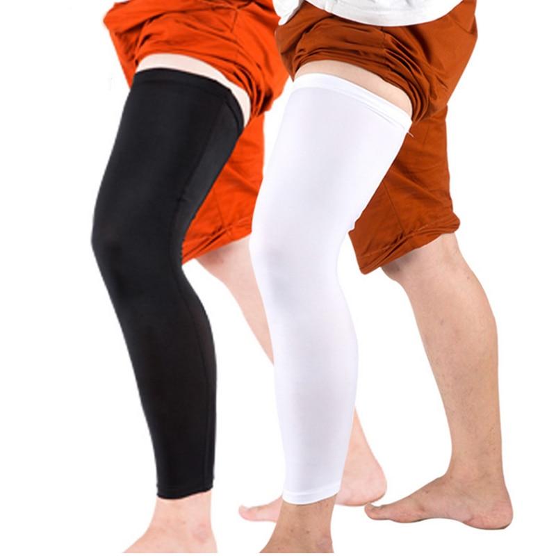 Sport kosárlabda nadrág védő borjú kompressziós hosszú lábú ujjmelegítők Kerékpározás Futás Futball térdőrök Térdpárnák