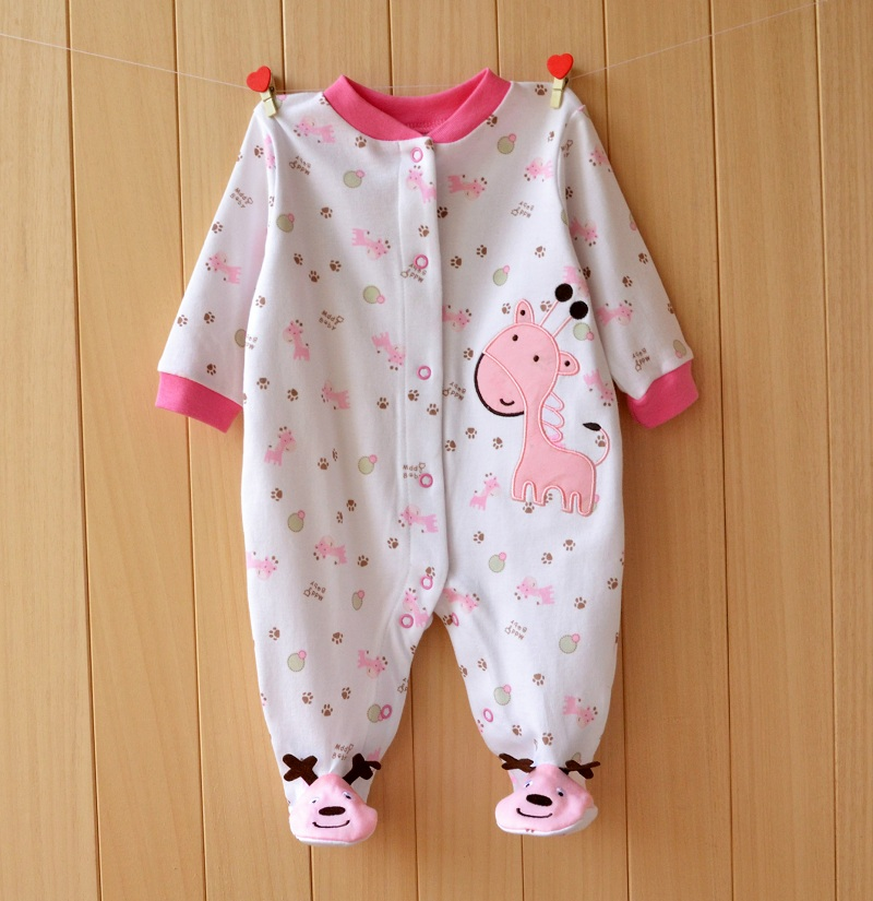 17 New spring cartoon baby rompers cotton 100% girls and boys clothes long sleeve romper Baby Jumpsuit newborn baby Clothing 2