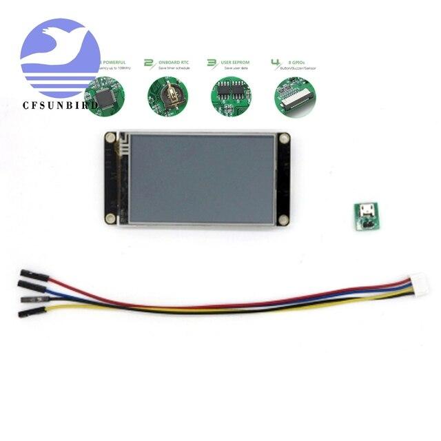 """2.8 """"Nextion Enhanced HMI inteligentny inteligentny USART UART szeregowy dotykowy moduł TFT LCD Panel wyświetlacza zestawy Raspberry Pi NX3224K028"""