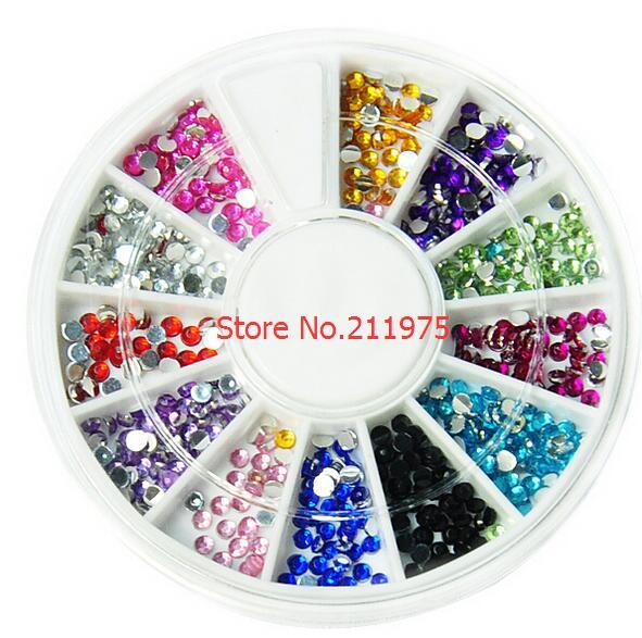 Aliexpress.com : Buy sale 5Wheel 3D Nail Art Rhinestones Gems ...