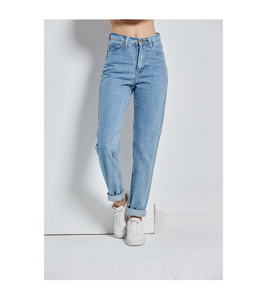 Vintage High Waist Jeans Full Length Cowboy Denim Pants 26