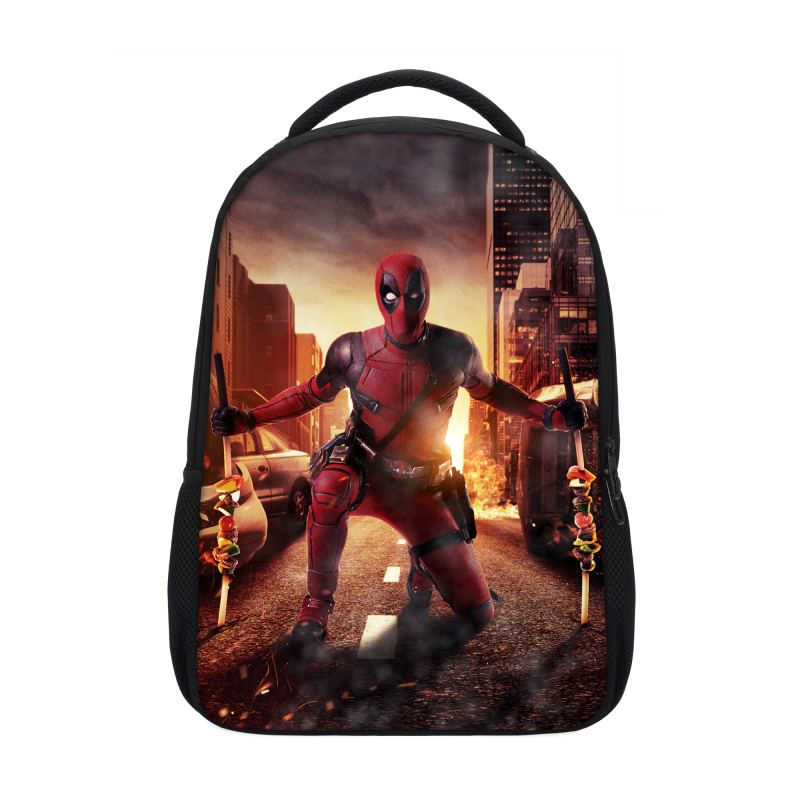 Veevanv Brand Design Backpacks For Men Women Fashion Marvel Deadpool Prints Shoulder Bag Casual Travel Backpacks Mochila Escolar