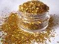 Holográfica Glitter Confeti Escamas De Oro Brillo Resistente A los disolventes de esmalte de Uñas Nail Art Crafts