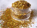 Solvent Resistant Glitter Confetti Holographic Gold Flake Glitter for Nail Polish Nail Art Crafts