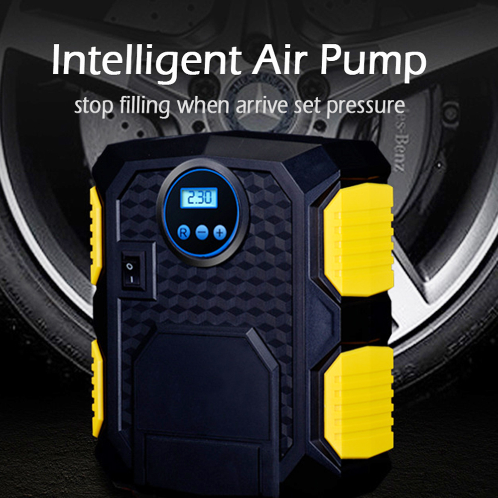Digital Tire Inflator DC12V Portable Car Motorcycle Inflatable Pump 100 PSI Car Air Compressor for Car Motorcycles Bicycles 5