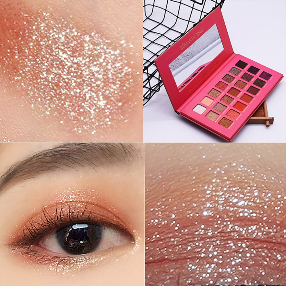 Shimmer Metallic Eyeshadow Palette Mashed Potatoes Cosmetics Makeup 16 Color beauty glazed sombras paleta focallure ucanbeA25