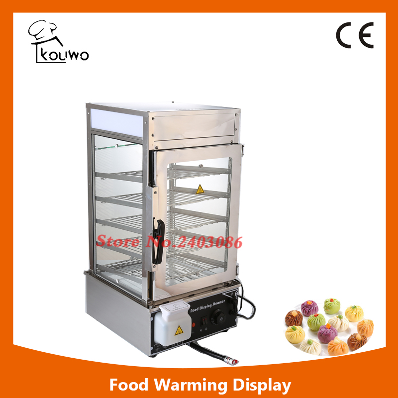 KW-500L 5 tier stainless steel food warmer machine bun steamer cooker food heater for sales fast food leisure fast food equipment stainless steel gas fryer 3l spanish churro maker machine