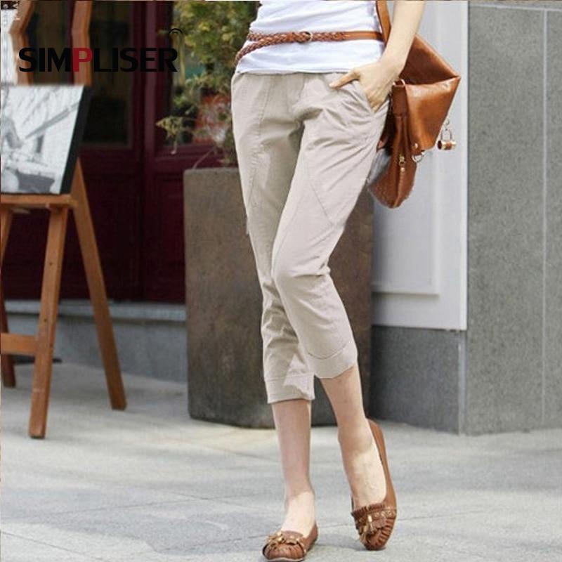 Women Casual Harem Pants 2019 black khaki Femme Pantalon Casual Loose Capri Pants Female Trousers Leggings Cargo Pants Wo