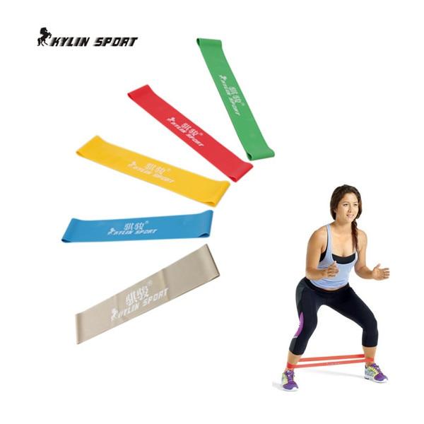 fünf Farben zur Verfügung unterstützen Widerstand Bands Übung Körper hochziehen Knöchel Fitness Widerstand Schleife Band für Freeshipping