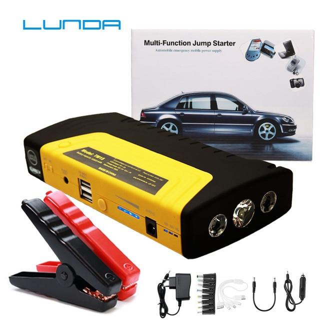 LUNDA 12 V Motor de Carro Portátil Carro Saltar de Arranque Carro Saltar Bateria De Emergência móvel de alimentação de Carga Rápida de Alta potência