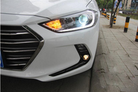 Car Styling for Hyundai Elantra Headlights 2017 2018 Elantra LED Headlight DRL Bi Xenon Lens High Low Beam Parking HID Fog Lamp