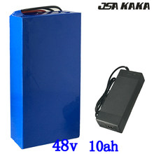 48V 10AH electric bike battery 48V 10AH scooter battery pack 48V 10AH Lithium ion battery with 15A BMS and 54.6V 2A charger(China)