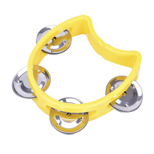 Musical-Instrument Tambourine Percussion Bell Hand-Held Plastic Metal for KTV Party Kid