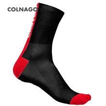 COLNAGO Компрессионные Мужские носки для велоспорта, мужские носки для занятий спортом на открытом воздухе, износостойкая велосипедная обувь для шоссейного велосипеда, носки для бега