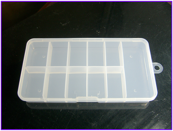 1X Large Soft Plastic Silicone Empty Storage Case Box 10 Cells For Nail Art Tips Gems