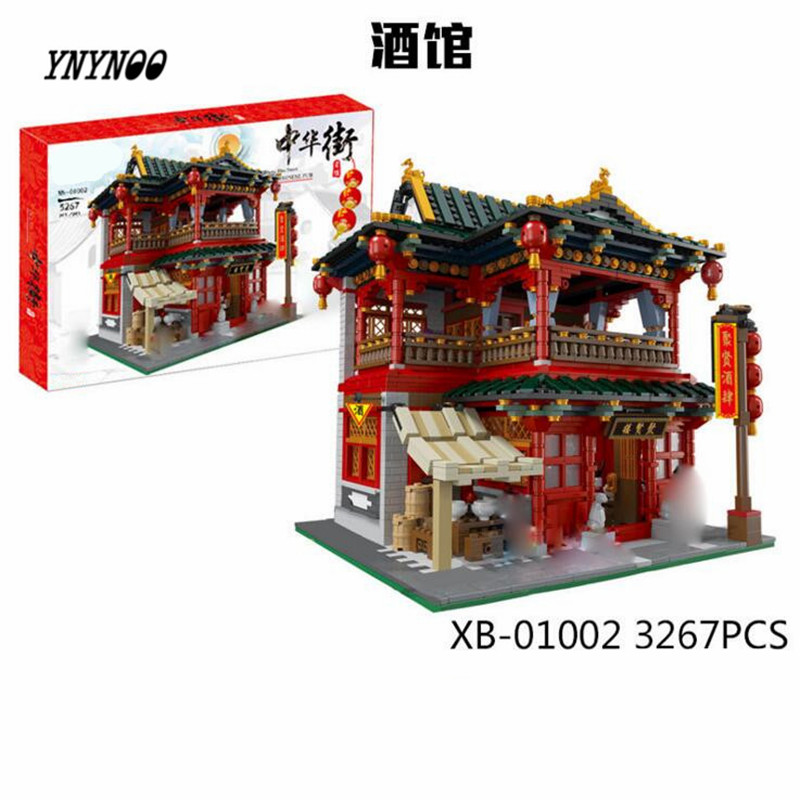 купить YNYNOO 01002 3267Pcs MOC Creative Series The Beautiful Tavern Set Children Educational Building Blocks Bricks Toys Model Gifts недорого