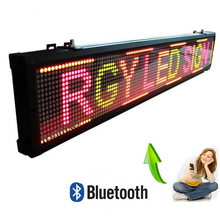 40X6.3 inch Mulit-color RGY LED Sign Wireless and USB Programmable Rolling Information P7.62 Indoor Lighting LED Display Screen