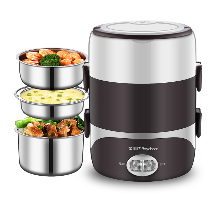Lunch Electric Box Three Layers Can Be Inserted Electric Heating Automatic Heat Preservation Portable Artifact Rice Cooker цена