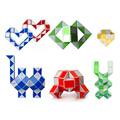 Speed Magic Cube Ruler Twist Snake Puzzle Toy Spinner Hand Cubos Magicos Plastic Polymorph Brinquedos Learning Education 80D0484