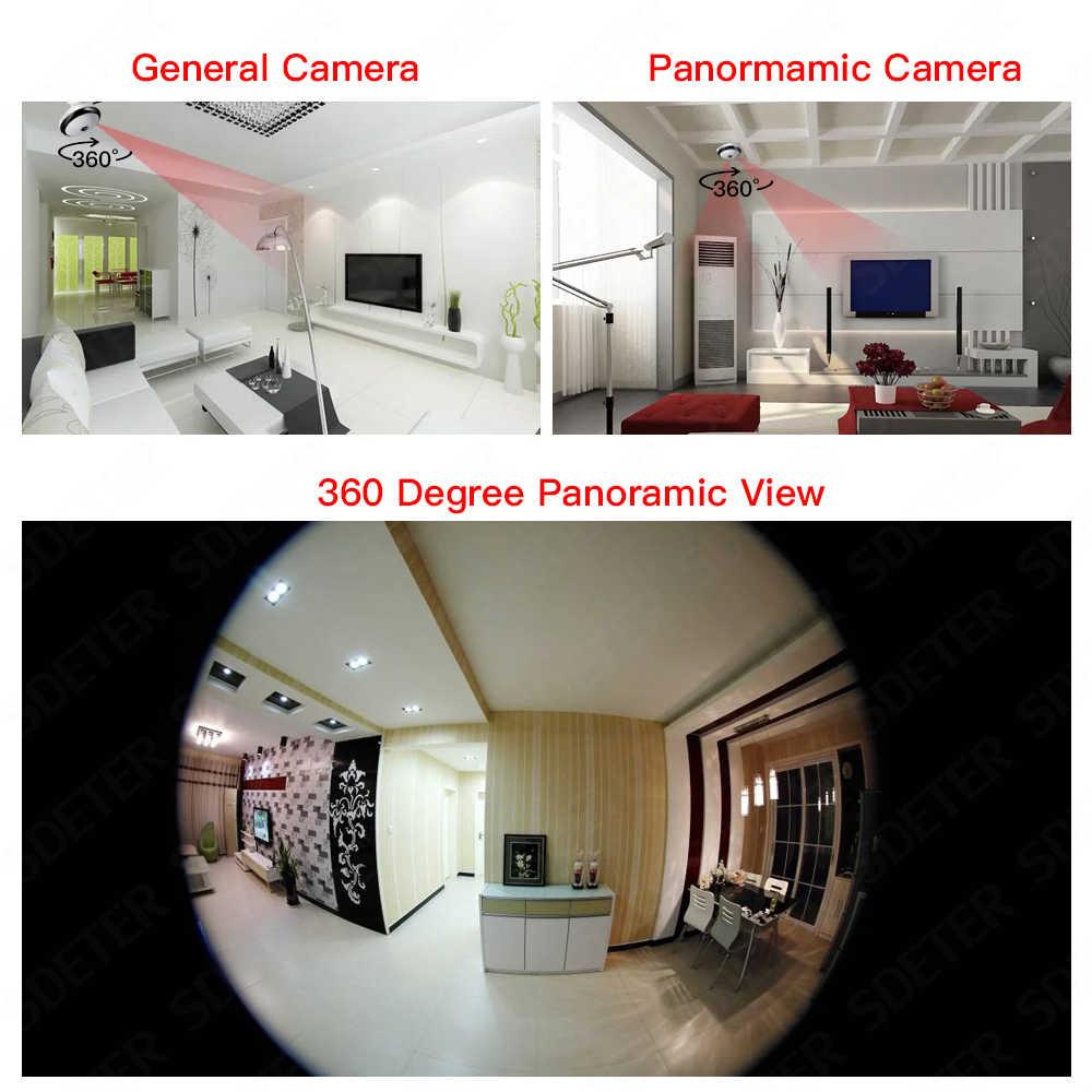 SDETER 1080 P беспроводная Wi-Fi камера ip лампа CCTV панорамный фотоаппарат рыбий глаз светодиодный свет камера безопасности ночного видения Сигнализация Движения