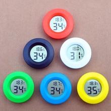 Мини ЖК-дисплей цифровым термометром и гигрометром декоративные часы для Температура метр Аквариум холодильник тестер морозильника датчик измерителя температуры и влажности